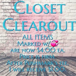 💞 CLOSET  CLEAROUT SALE 💞